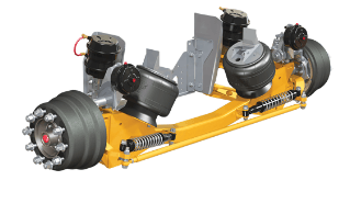 Lift axle suspensions